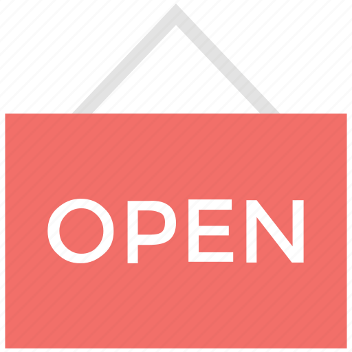 info, information, information sign, navigations, open signboard, signboard for open icon