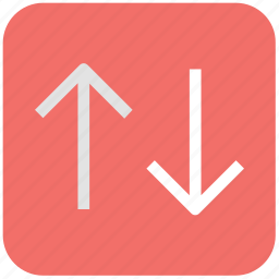 arrows, download, two ways, up and down, upload icon