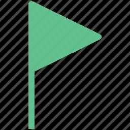 flag, gps, location flag, navigational, triangular flag icon