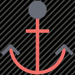 anchor, seashore, seaside, shoreline, waterside sign icon