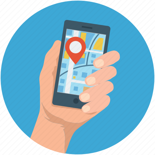 gps, location, map, mobile, navigation, online map icon