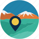 desert, gps, location, mountain, navigation icon