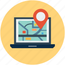 browsing map, gps, location, map, navigation, searching location icon