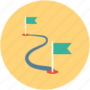 destination, distance, gps, location flag, map, map marker icon
