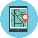 gps, map, map device, mobile, navigation, tab icon