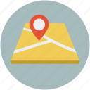 gps, location, map, map state icon