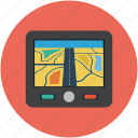 gps, map, map device, mobile map, navigation, online map icon