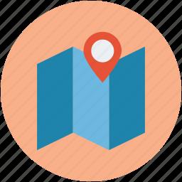 gps, location, map, navigation, restaurant, restaurant location icon