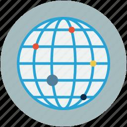globe, map analytics, map reports, monitoring, world map icon