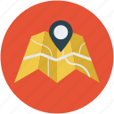 gps, location, map, navigation, restaurant, restaurant location icon