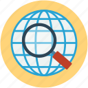 globe map, network, online searching, world globe icon