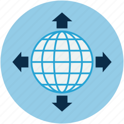 broadcast, center, international, internet, network, world globe icon