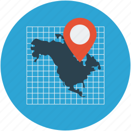 country map, gps, map, map pin, navigation icon