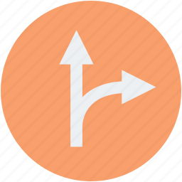front and turn, map, road flat, road map, turn on road icon