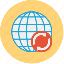 international, internet, network, online searching, refresh icon