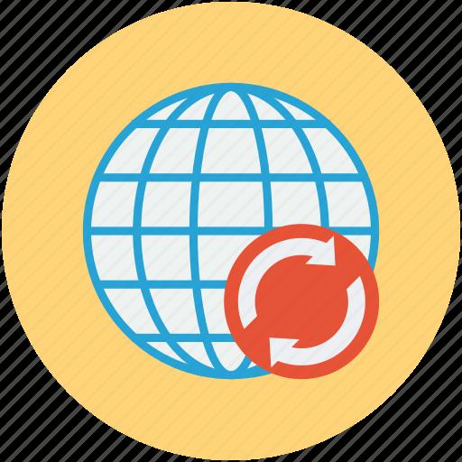 international, internet, network, online searching, refresh icon