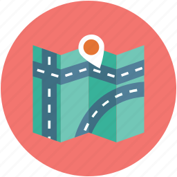 direction map, location, map, navigation, pin, pointer icon