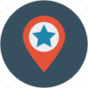 famous, favorite, landmark, location, map, pin, popular icon