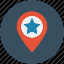 famous, favorite, landmark, location, map, pin, popular icon