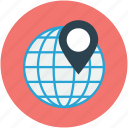 global, globe, map, map location, world, world map icon