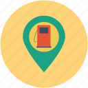 filling station, gas station, map, petrol bunk, petrol station, pin, pointer, service station icon