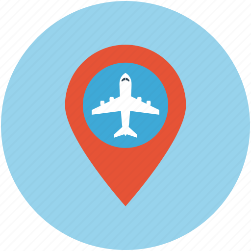 aerodrome, airport location, gps, landing area, location, map, runway icon