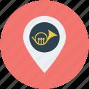 music, music store, music studio, trumpet icon
