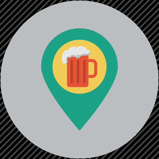 coffee shop, coffeehouse, map, navigation, tea room, tea stall icon