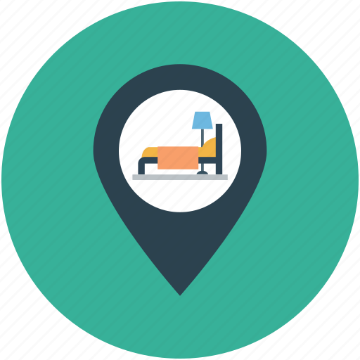destination map, hotel, hotel location, map, motel, restaurant location icon