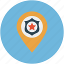 location, map, pin, private public store, school location icon