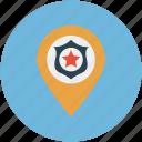 location, map, pin, private public store, school location icon