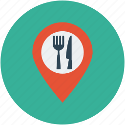 bar, cafe, coffee, food, food location, location, map marker, restaurant icon