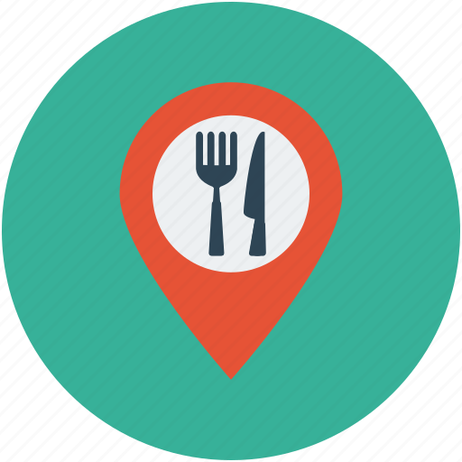 bar, cafe, coffee, food, food location, location, map marker, restaurant icon