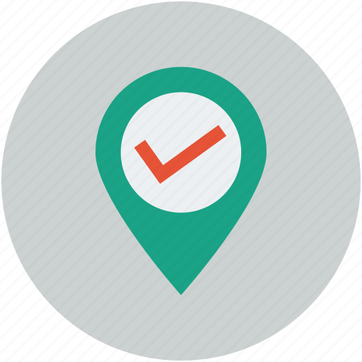 allow, check, direction, location, map, marker, pin icon