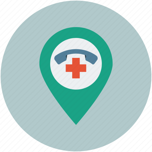 customer help location, landline service location, public support location, service location icon