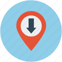 arrow location, direction location, u-turn location, up location icon