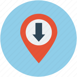 arrow location, direction location, u-turn location, up location icon