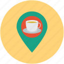 coffee location, location, marker, tea stall map icon