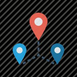 location, map, marker, navigation icon