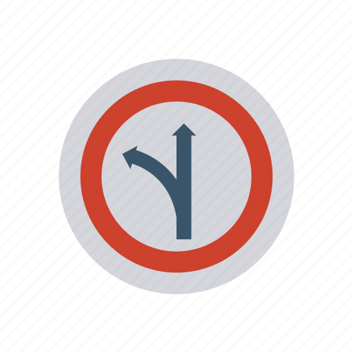 arrow, direction, path, sign icon