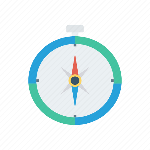 compass, direction, navigation, north icon
