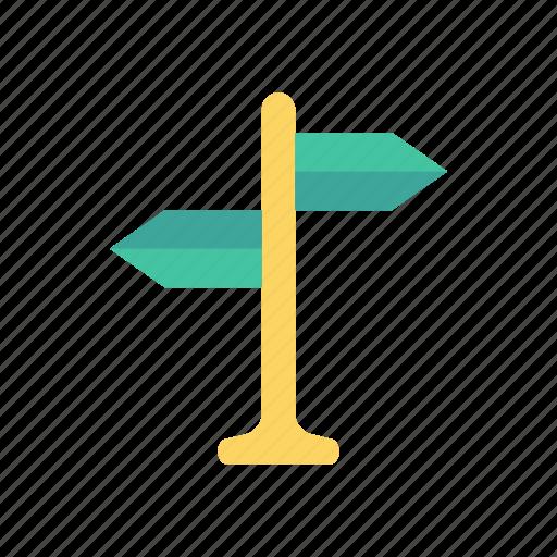 arrow, banner, board, direction icon