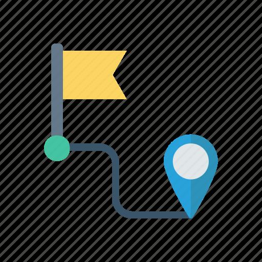 direction, map, navigation, path icon