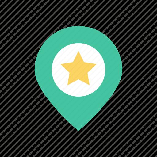 destination, favorite, marker, pin icon