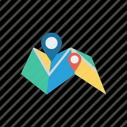gps, map, marker, navigation icon