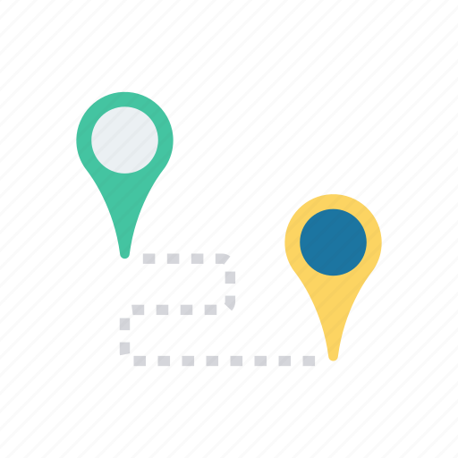destination, location, map, pinpoint icon