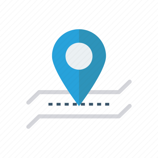 destination, location, map, tracking icon