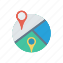 gps, map, pin, point icon
