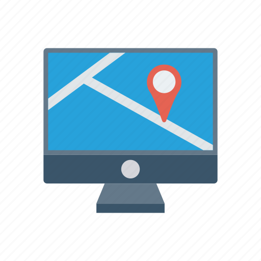 display, location, map, screen icon
