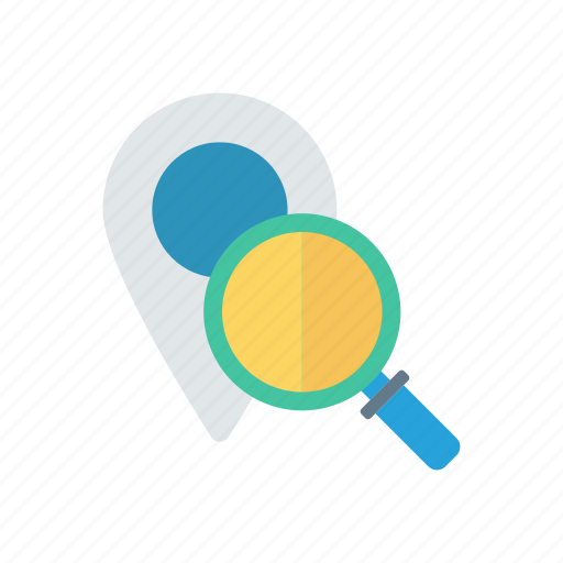 find, map, pointer, search icon
